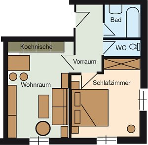 Grundriss Apartment Theresia